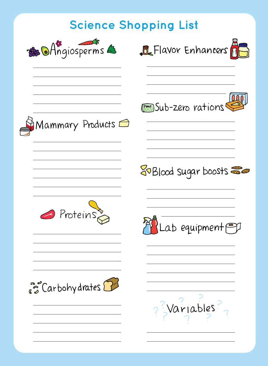Printable Science Shopping List - Beatrice the Biologist
